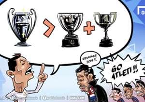 Cristiano Ronaldo mengklaim bahwa trofi Liga Champions jauh lebih baik dibanding memenangi La Liga Spanyol dan Copa Del Rey, sindiran yang dilontarkan secara khusus untuk Barcelona. Tak salah jika kemudian penggawa tim Catalan lebih memilih mendukung k...