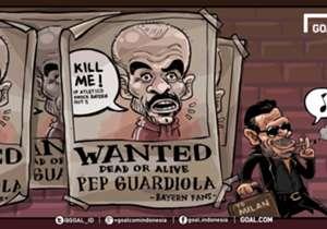 """Mulutmu harimaumu. Barangkali Pep Guardiola lupa akan ujar-ujar itu saat ia sembarangan berbicara jelang leg kedua semi-final Liga Champions melawan Atletico Madrid. """"Kami punya satu laga lagi, dan jika kami kalah Anda boleh membunuh saya, tetapi kami ..."""