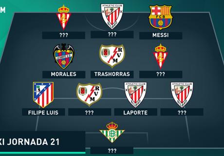 Susunan Tim Terbaik La Liga Spanyol 2015/16 Jornada 21