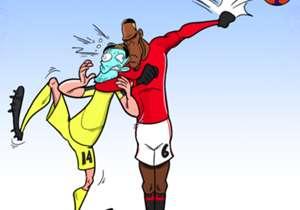 Dan Dance memang keren, tetapi tampaknya Paul Pogba terlalu sering melakukannya sehingga melakukan blunder fatal yang membuat Manchester United nyaris tumbang saat melawan Liverpool! Pogba melakukan kesalahan konyol dengan mengangkat tangan saat berusa...