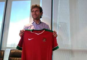 Pelatih timnas Indonesia Luis Milla.