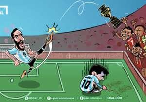 Cile menuliskan sejarah dengan mengangkat trofi Copa America untuk pertama kalinya, skuat La Roja bermain sangat luar biasa di hadapan publiknya sendiri untuk menaklukkan tim favorit Argentina yang berisi talenta-talenta istimewa seperti Lionel Messi, ...