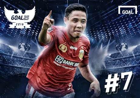 Goal 25 - Peringkat 7: Evan Dimas