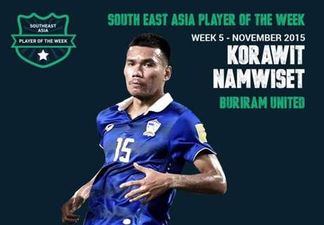 Pemain Terbaik Asia Tenggara Pekan Ini: Korawit Namwiset