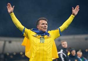 Seit seinem Debüt 2010 absolvierte Konoplyanka 56 Partien für die Ukraine