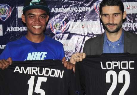 Arema Resmi Rekrut Lopicic & Teguh Amiruddin