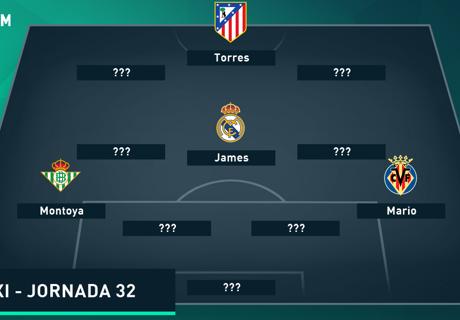 Susunan Tim Terbaik La Liga - Jornada 32