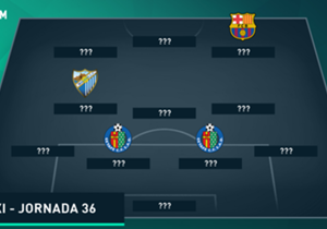 Getafe dan Malaga menguasai susunan tim terbaik La Liga Spanyol 2015/16 jornada 36 dengan masing-masing mengirimkan tiga perwakilan.