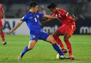 Thailand menginjakkan satu kaki di partai puncak setelah mengalahkan Myanmar di leg pertama semi-final
