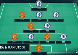 Jelang pertandingan antara Chelsea dan Manchester United. Goal menyajikan tim gabungan terbaik antara kedua tim...