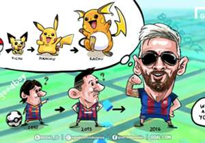 Bisa jadi terinspirasi dengan Pokemon yang terus berevolusi, Lionel Messi pun menunjukkan 'perubahan' dengan caranya sendiri, dengan mengubah gaya rambut. Bagaimana menurut Anda?