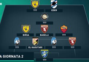 Empat pemain bertahan di susunan tim terbaik Giornata 2 setelah terpilih pekan lalu. Siapa lagi yang melengkapi tim terbaik pekan ini?