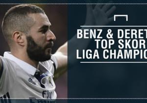 Karim Benzema akhirnya sukses menorehkan 50 gol di Liga Champions, Kamis (8/12). <strong>Goal Indonesia</strong> lantas menilik kembali siapa saja pencetak gol terbanyak di kompetisi terakbar Eropa ini. Simak daftarnya!