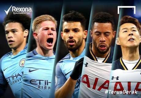 Siapa Pemain #TerusGerak Di Laga Manchester City - Tottenham?