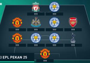 Leicester City dominan di puncak klasemen dengan Tottenham Hotspur menggantikan Manchester City sebagai terbaik kedua di pekan ini. Inilah susunan tim terbaik Liga Primer Inggris minggu ini.