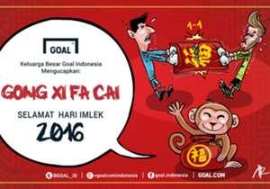 Redaksi Goal Indonesia mengucapkan Selamat Hari Imlek! Gong Xi Fa Cai!