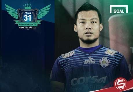 Pemain Terbaik Indonesia Soccer Championship A 2016 Pekan 31: Hamka Hamzah
