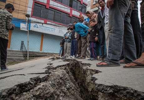 Stadion Nepal Rusak Akibat Gempa Bumi