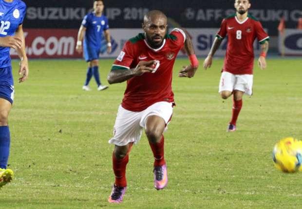 (PIC:Boaz Solossa mengingatkan, timnas Indonesia masih memiliki satu laga berat di markas Vietnam)