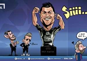 Tak bisa dibantah, tahun ini adalah tahunnya Cristiano Ronaldo. Menyusul trofi Liga Champions dengan Real Madrid dan Euro 2016 bersama Portugal, CR7 juga menggondol gelar Pemain Terbaik Eropa 2015/16 versi UEFA setelah, lagi-lagi, mengalahkan Antoine G...