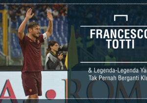 Legenda Roma, Francesco Totti, telah menginjak usia 40 tahun dan tidak banyak legenda yang mampu menjaga kesetiaan terhadap satu klub di usia itu. Goal merangkum daftar legenda yang tak pernah pindah klub sepanjang kariernya. Simak!