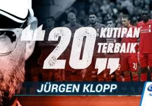 Selain menjadi juru taktik yang hebat, Jurgen Klopp juga dikenal karena komentar uniknya di hadapan pers. Jelang perkenalan resmi Klopp sebagai manajer Liverpool, Goal Indonesia menyajikan 20 komentar terbaik pelatih asal Jerman itu.