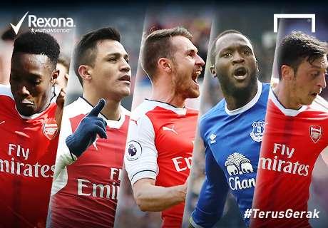 Siapa Pemain #TerusGerak Di Laga Arsenal - Everton?