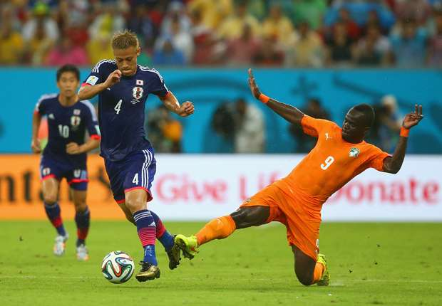 Keisuke Honda dkk. tak kuasa menahan comeback Pantai Gading.