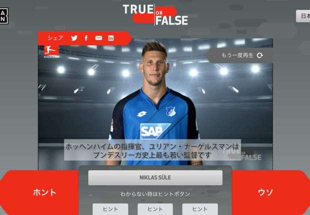 『True or False』のサイトの画面キャプチャ
