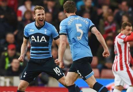 Stoke City-Tottenham 0-4, résumé de match