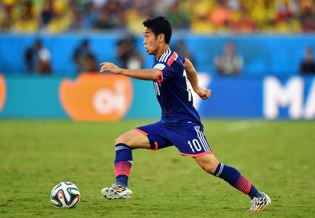 Konnte in Brasilien nicht gewohnt stark aufspielen: Japans Shinji Kagawa