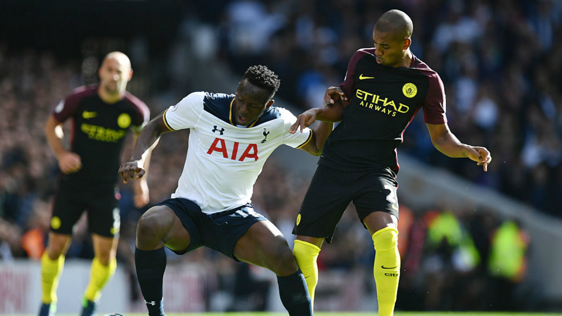 Victor Wanyama produced a man of the match display against Manchester City on Sunday