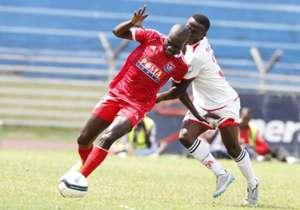 Ulinzi Stars striker John Nairuka v Posta Rangers