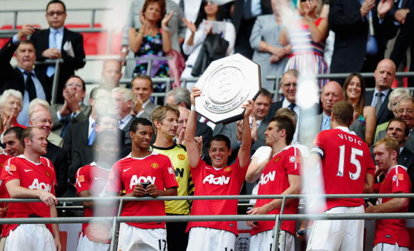 Javier Hernandez Community Shield 2010