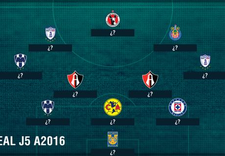 XI ideal de la Jornada 5 del Apertura 2016