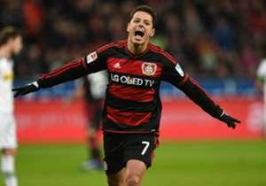 <strong>Javier Hernández Chicharito</strong> | Bayer Leverkusen | Bundesliga I Está en el mejor momento de su carrera y ha tapado bocas a propios y extraños. Lleva 21 goles en 25 partidos en todas las competiciones y se ha convertido en la principal re...