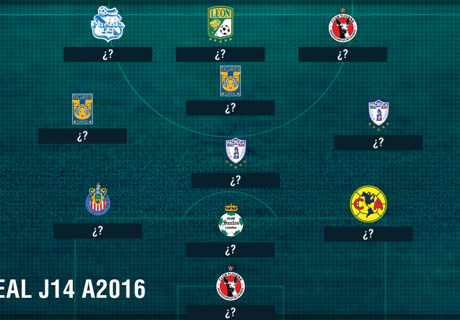 LIGA MX: XI Ideal J14 A2016