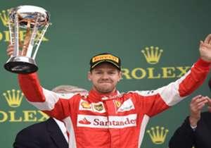 Sebastian Vettel es uno de los encargados de conducir uno de los dos monoplazas de Ferrari.