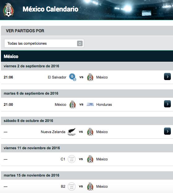 Calendario de la Selección Mexicana en 2016 - Goal.com