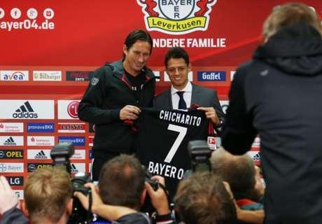 Los goles de Chicharito con Bayer