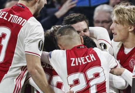 Ajax kruipt door oog van de naald