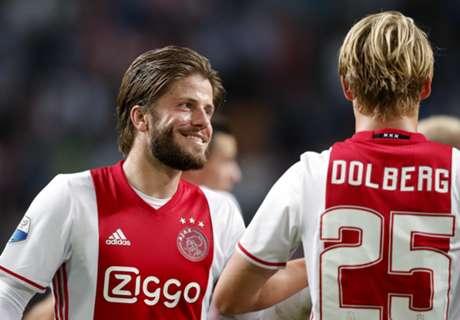 Roulerend Ajax bezig aan reeks