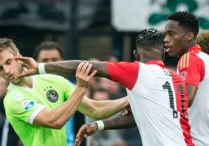 In De Kuip staat zondagmiddag de 181e editie van 'De Klassieker' tussen Feyenoord en Ajax op het programma. Hoe verliepen de laatste 10 competitiewedstrijden tussen beide ploegen in De Kuip?