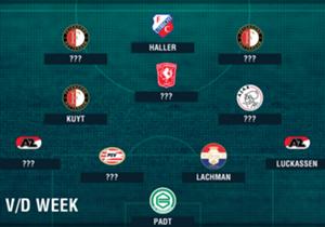 De vierde speelronde van de Eredivisie zit erop. We kijken daarom aan de hand van Opta-data naar de elf spelers die er bovenuit staken dit weekeinde in het Omnisport Eredivisie Team van de Week.