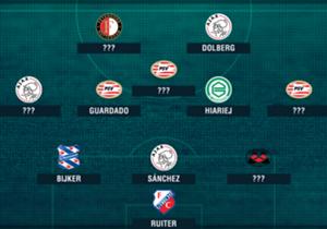 Welke elf spelers staken er bovenuit in de Eredivisie? Goal en Omnisport presenteren het Team van de Week, op basis van Opta-statistieken!