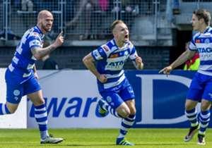 Eredivisie I De Graafschap I 22 unidades lo están condenando a la división inferior de Holanda pues no lograría alcanzar al siguiente club que pelea por permanecer en primera división, Willem II