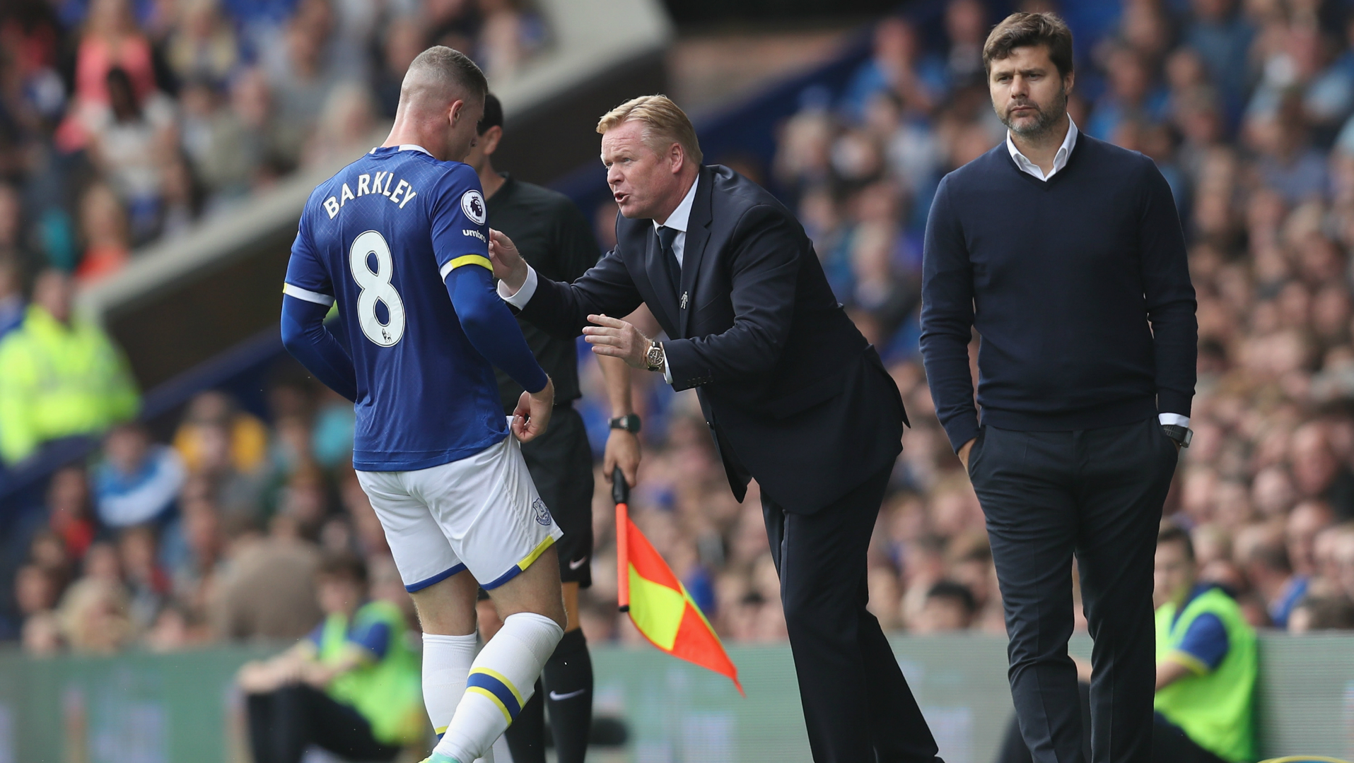 Ross Barkley, Ronald Koeman, Mauricio Pochettino, Everton, Tottenham Hotspur, Premier League, 20160813