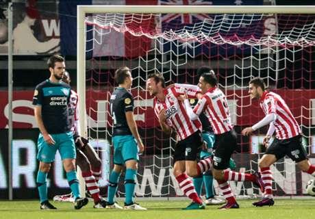 Sparta kegelt zwak PSV uit KNVB Beker
