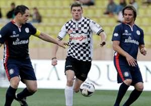 Football World Stars Match: Max Verstappen was ook op het veld soms niet te achterhalen.