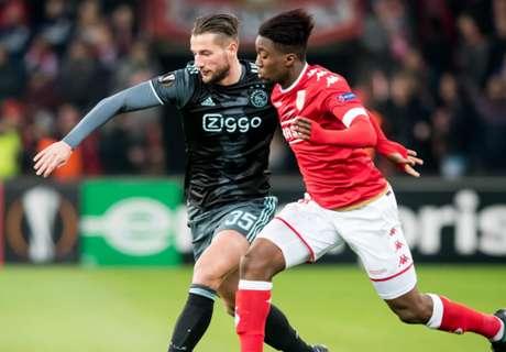 Ajax geeft zege laat weg in Luik